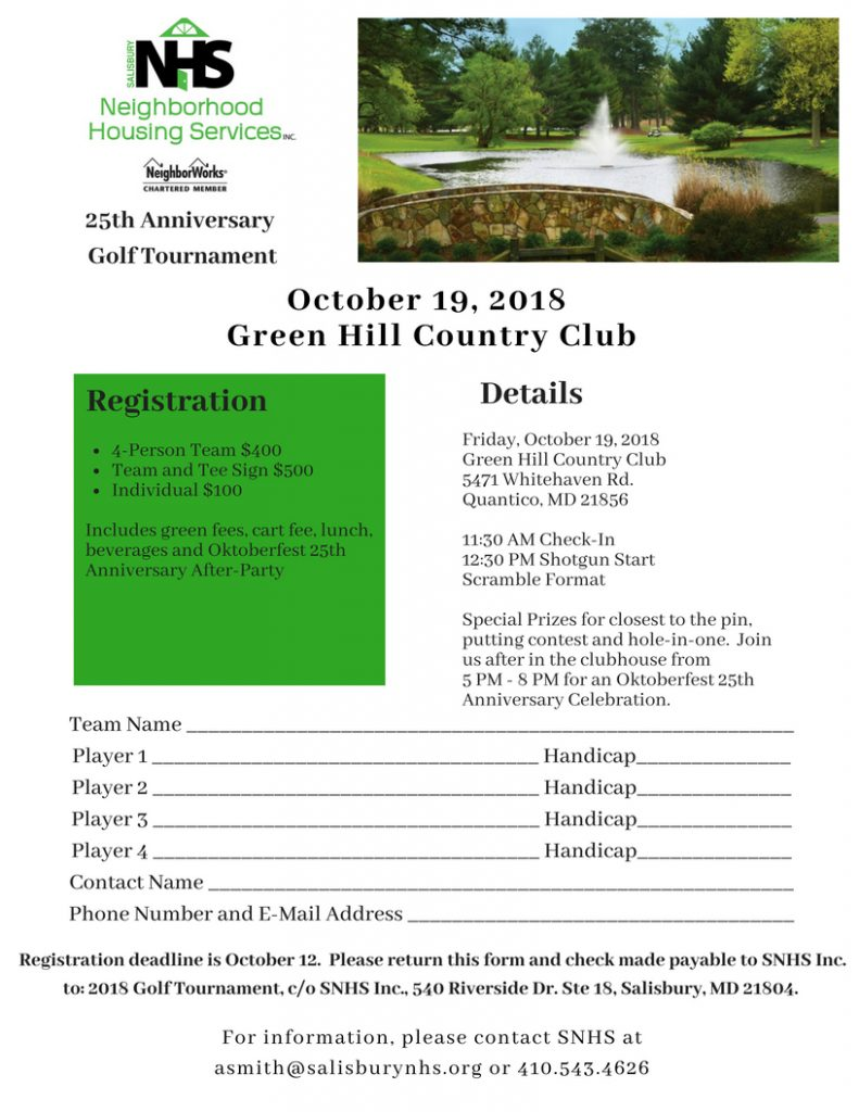 SNHS Golf Tournament