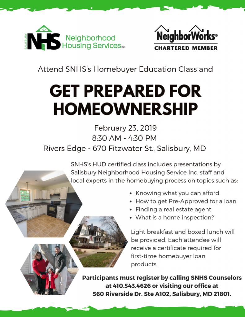 SNHS Homebuyers Education Workshop
