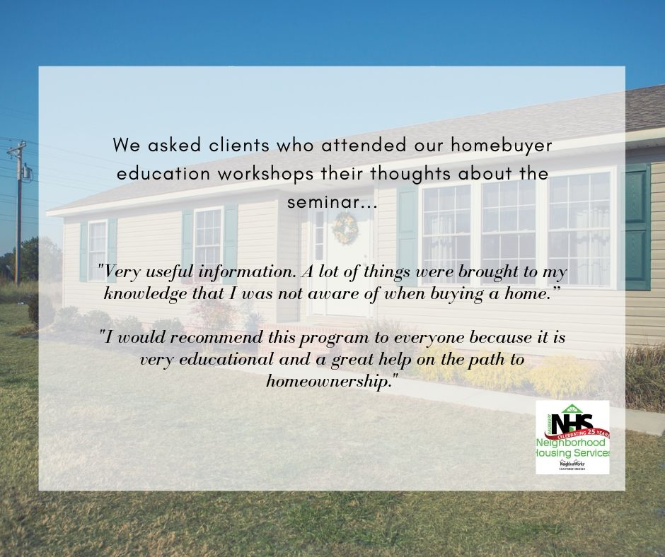 SNHS Free Homebuyers Education Workshop